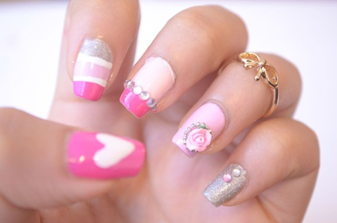 Pink-nails-unas-color-rosa-1